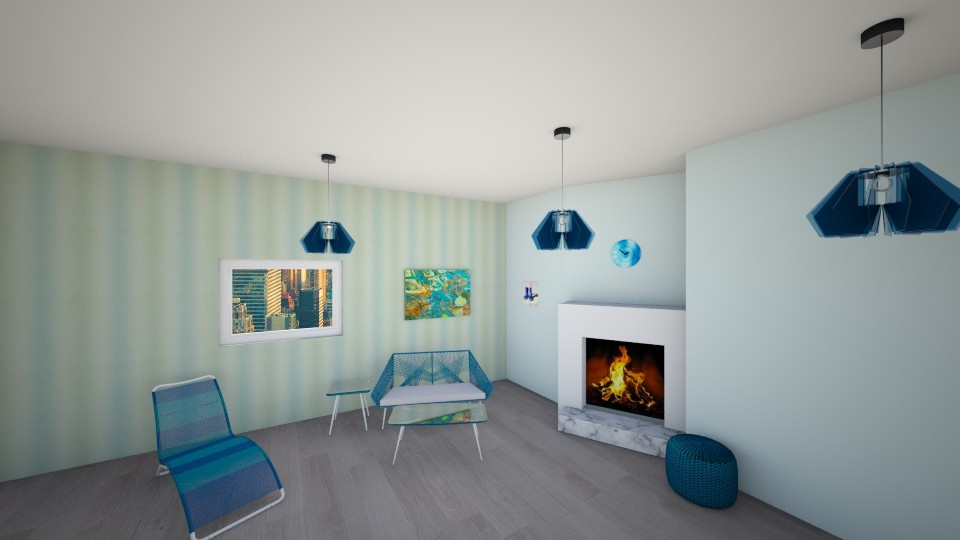 Shades of Blue - Modern - Living room - by RoomstylerJD