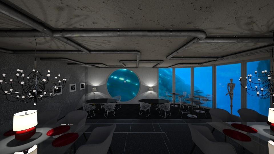 underwater restaurant - by leo435