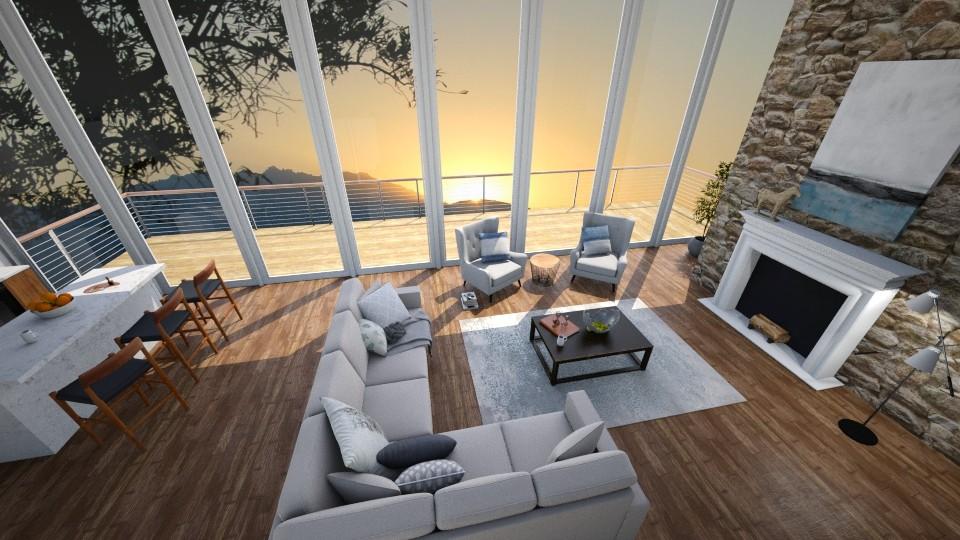 Mountain Morning - Living room - by _xandra_