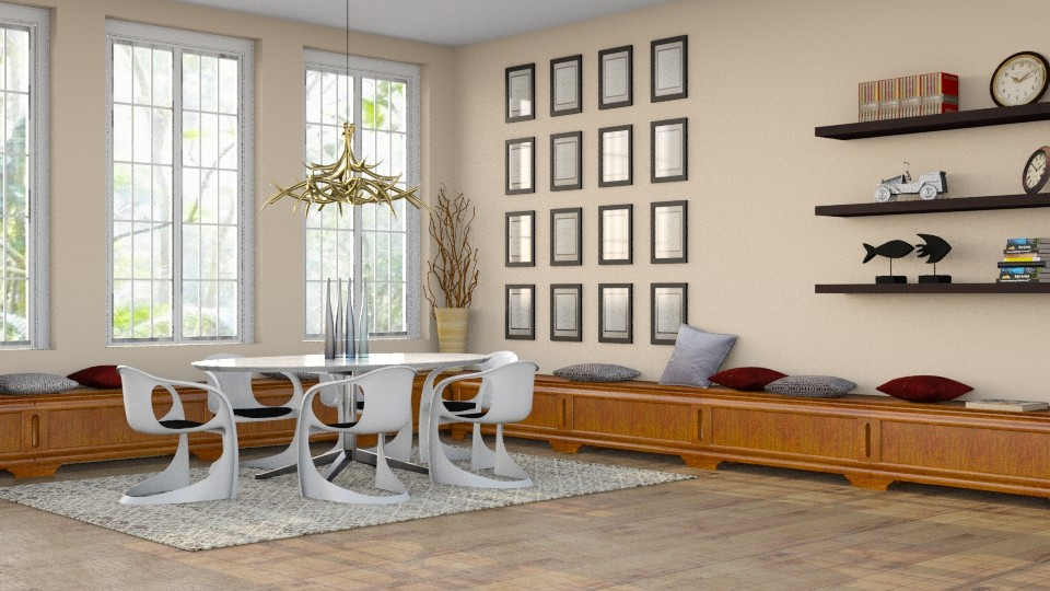 Jantar amplo - Dining room - by Alecio