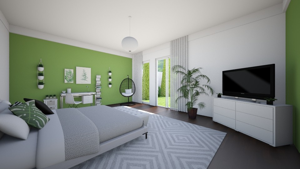 White and green - Bedroom - by evelyn19