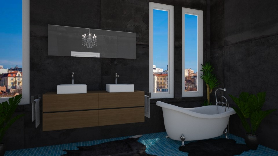 dark bathroom  - Bathroom - by TeA design Belgrade