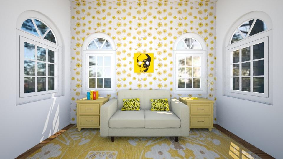 yellow modern - Modern - Living room - by kemelly hinara