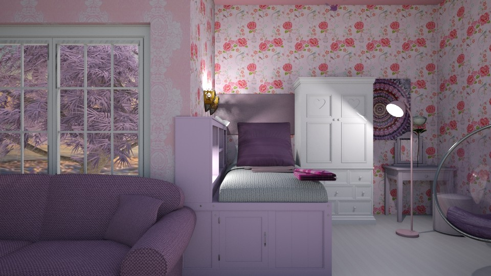 Pink Rose - by LittleKittens