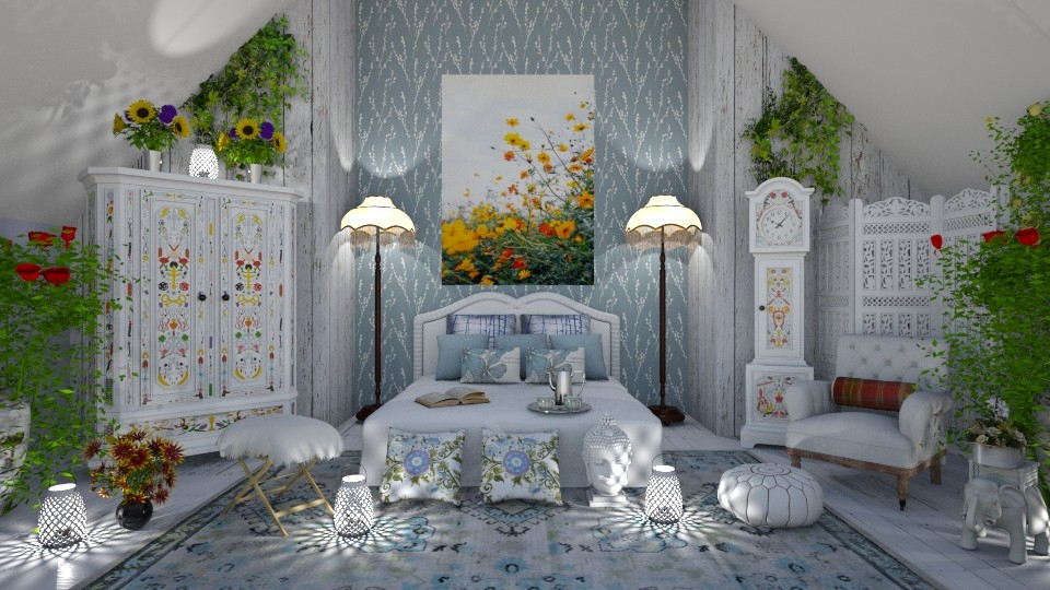 Boho Wildflower Dreams II - by lydiaenderlebell