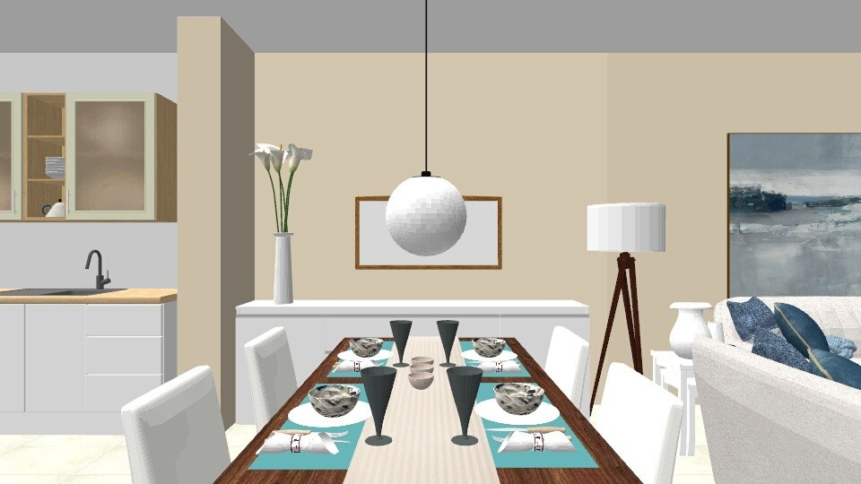 Solier beach apartment - Living room - by RikiA