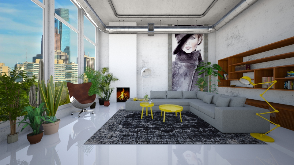 Exposed Ceiling Pipes - by Irene Klinkenberg