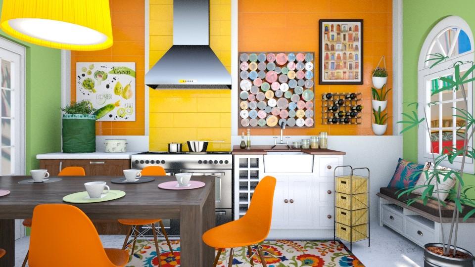 colorful kitchen - Kitchen - by seth96