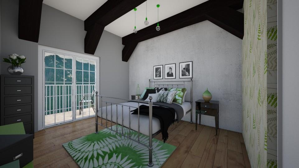 loft bedroom - Bedroom - by Gosia1610