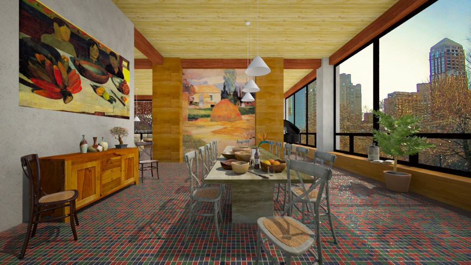 Gauguin in NY 1 - Eclectic - Dining room - by russ