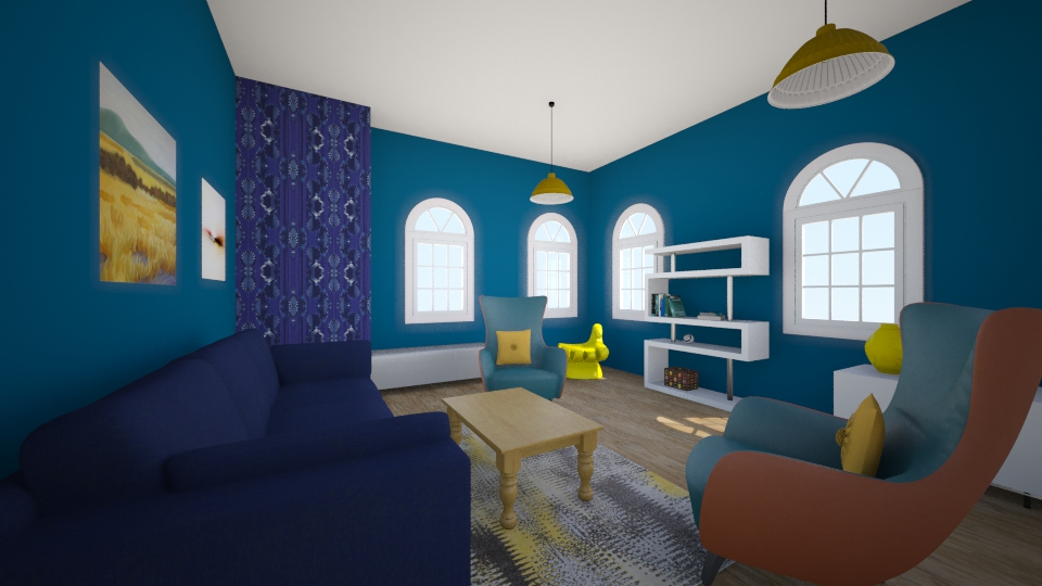 Blue - Modern - Living room - by Jacqueline De la Guia