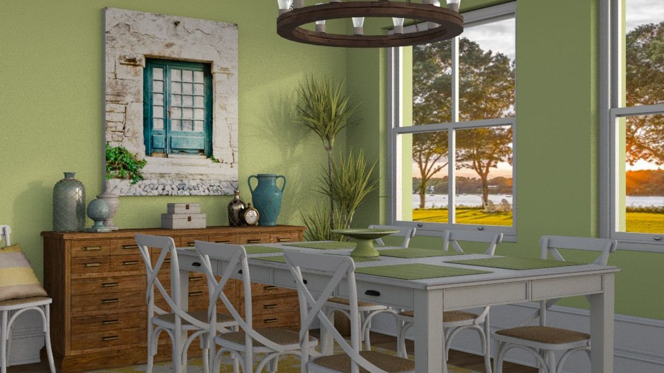 Green - Dining room - by Katie Whitley