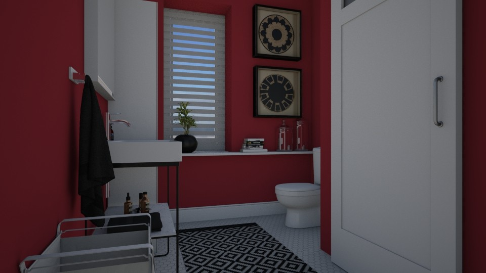 Rasberry - Bathroom - by Tuija