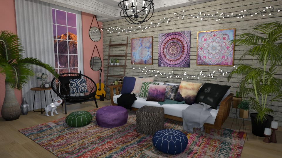 Boho Living Room - by ziagray