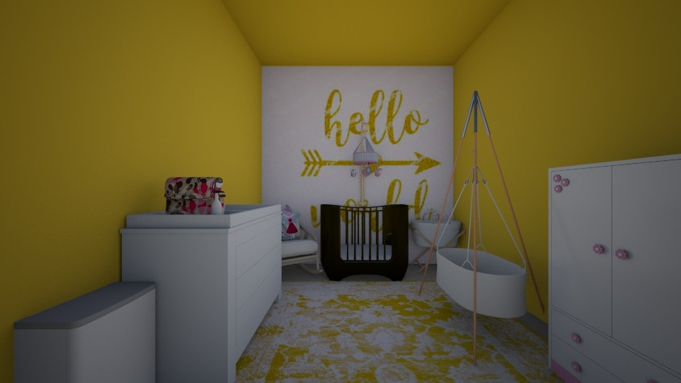 hello world baby room - by rainbowmudpies