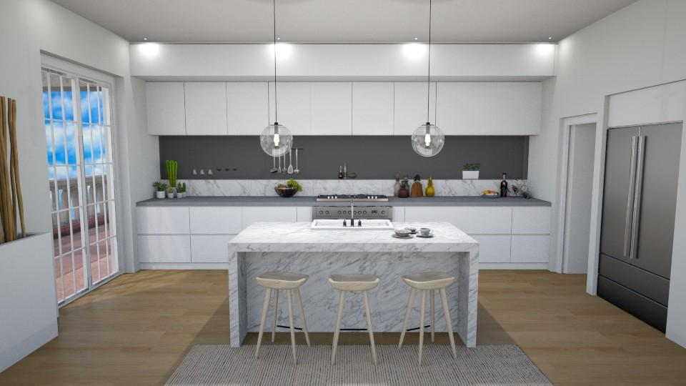 White Marble - Kitchen - by Jean Paul Gallardo