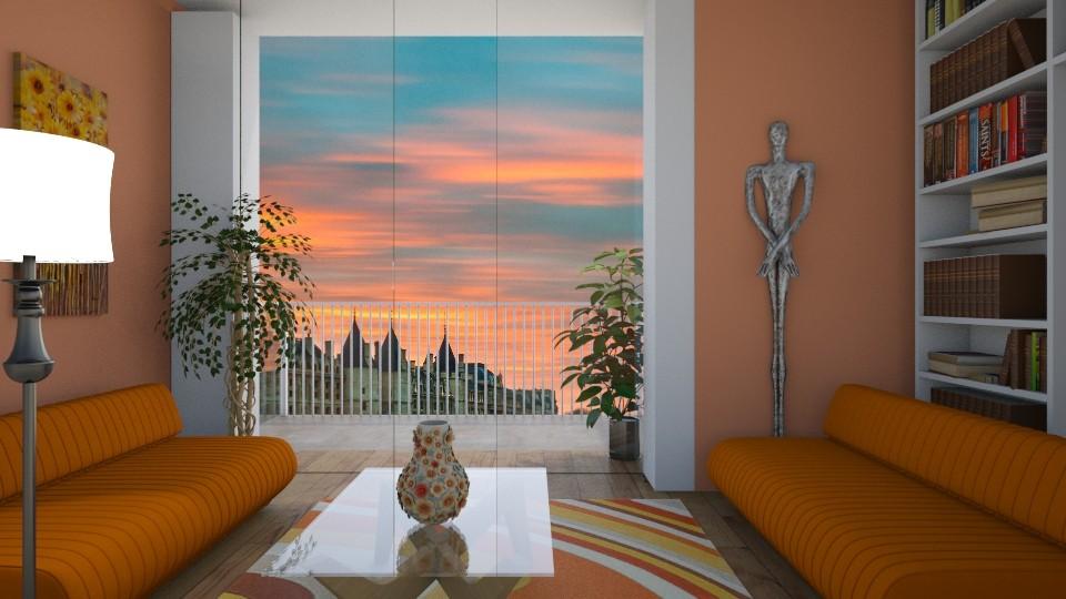 Orange - Living room - by Ana Angela