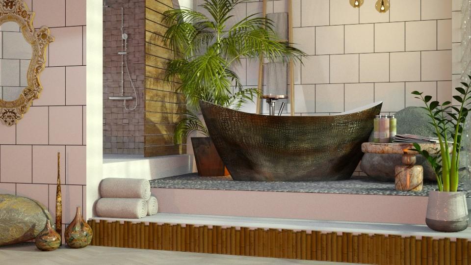 Bath in rocks  - Bathroom - by Just Bee