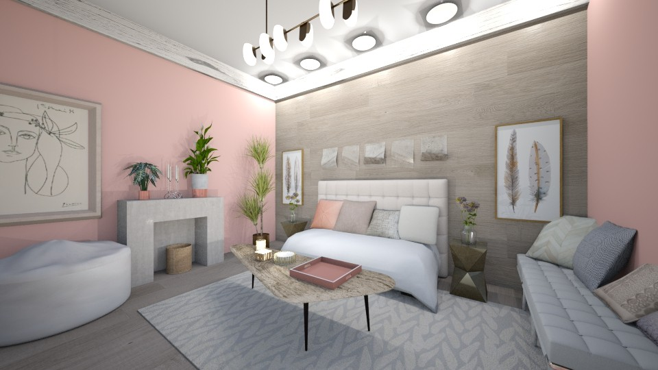 Pinkish Living Room - Living room - by LaughingDonut