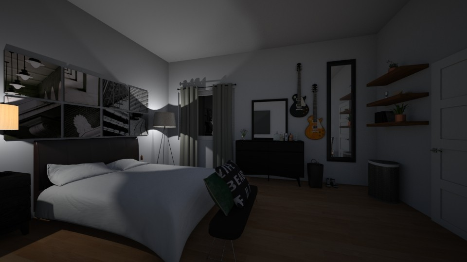 dark bedroom unfinished - Modern - Bedroom - by salisha222