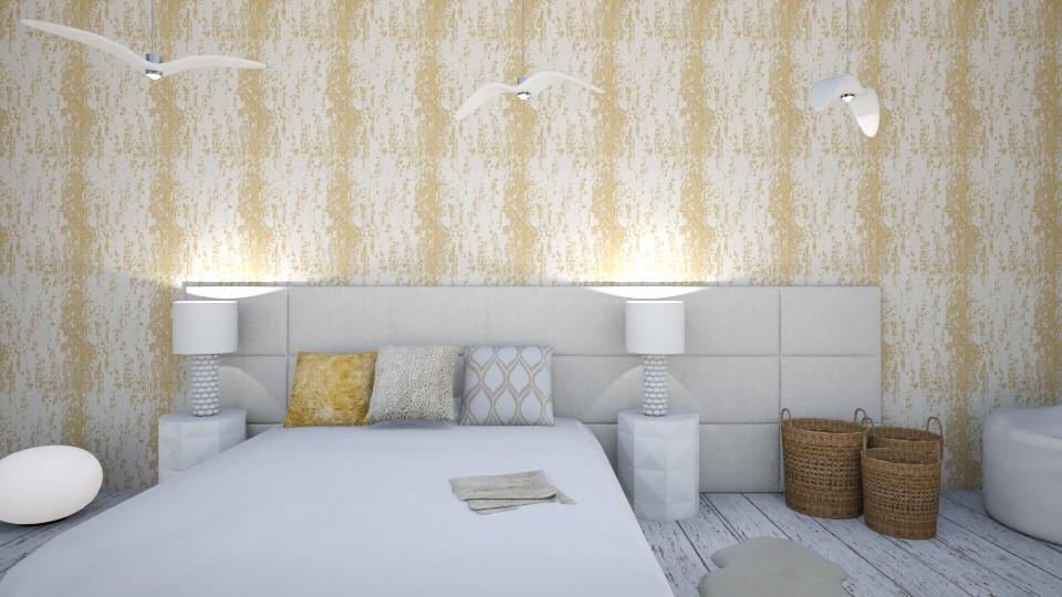 Gold Bedroom - Bedroom - by LaughingDonut