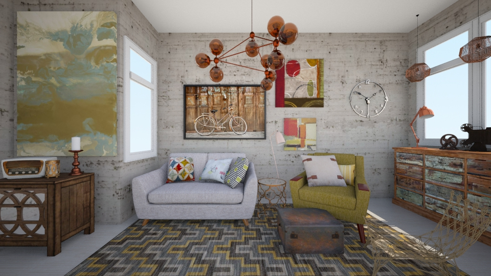 vintage mustard - Living room - by Georgina Holly