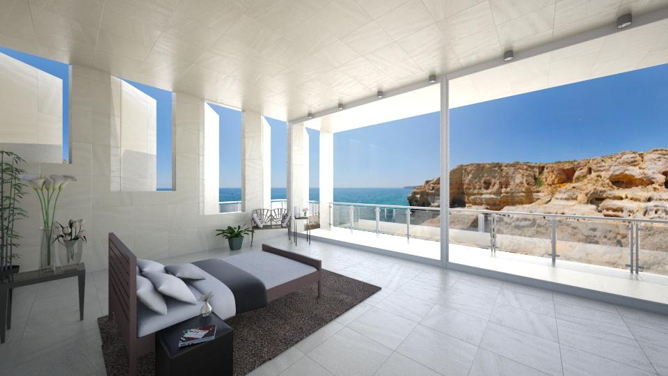 Beachside Cliff Bedroom - Minimal - Bedroom - by Sophia Cooper