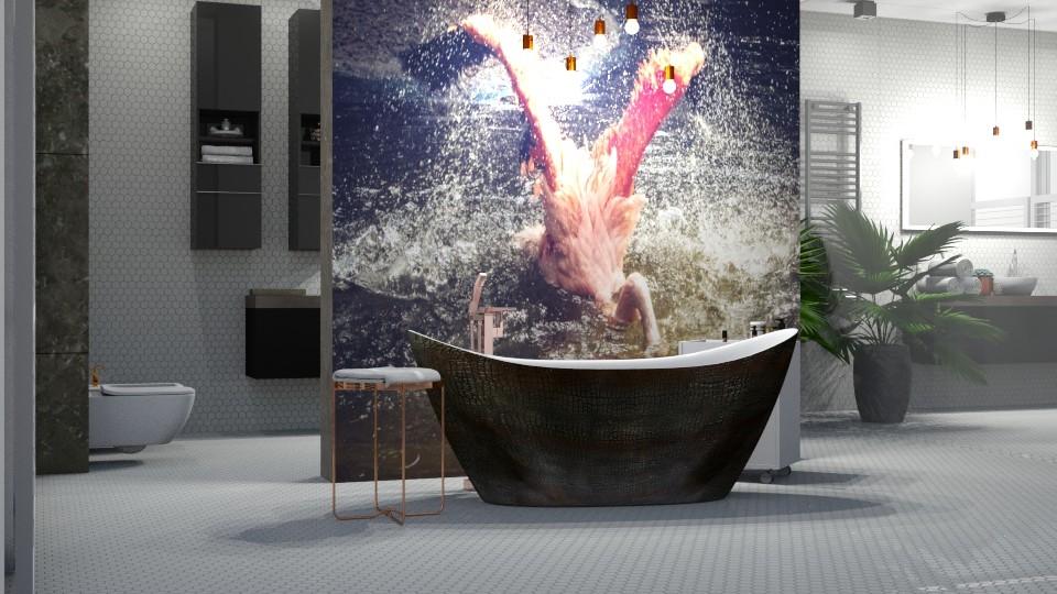 flamingo bathing - Modern - Bathroom - by jagwas
