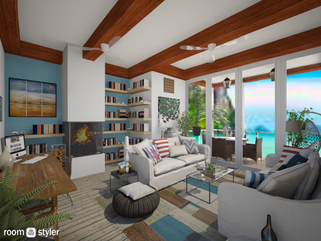 Beach place - Living room - by Nikola Simic