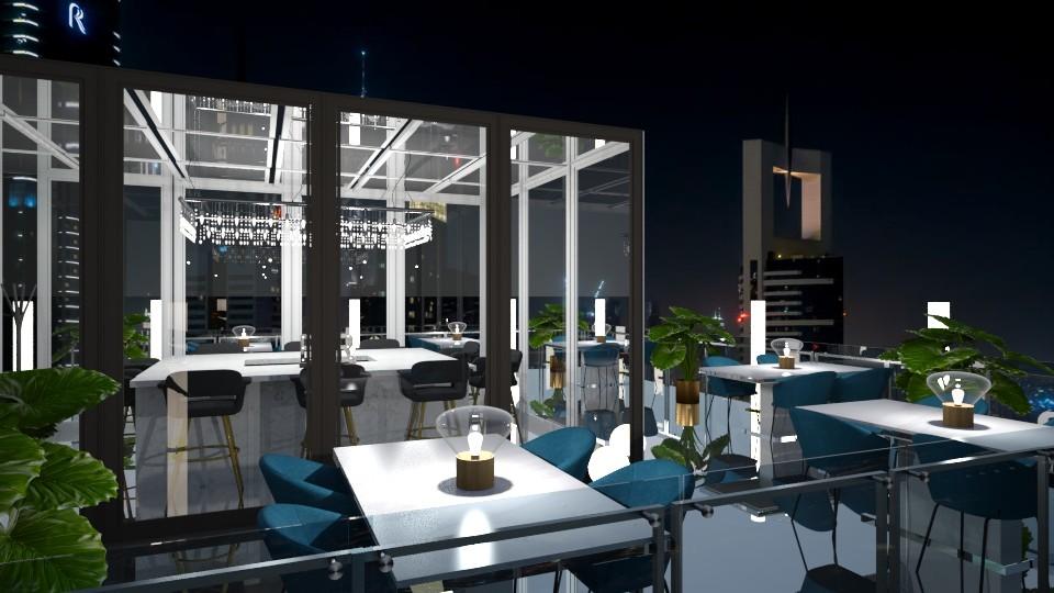 Rooftop bar at night 2 - by jagwas