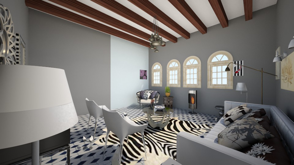 blackwhiteroom - Eclectic - Living room - by designsu76