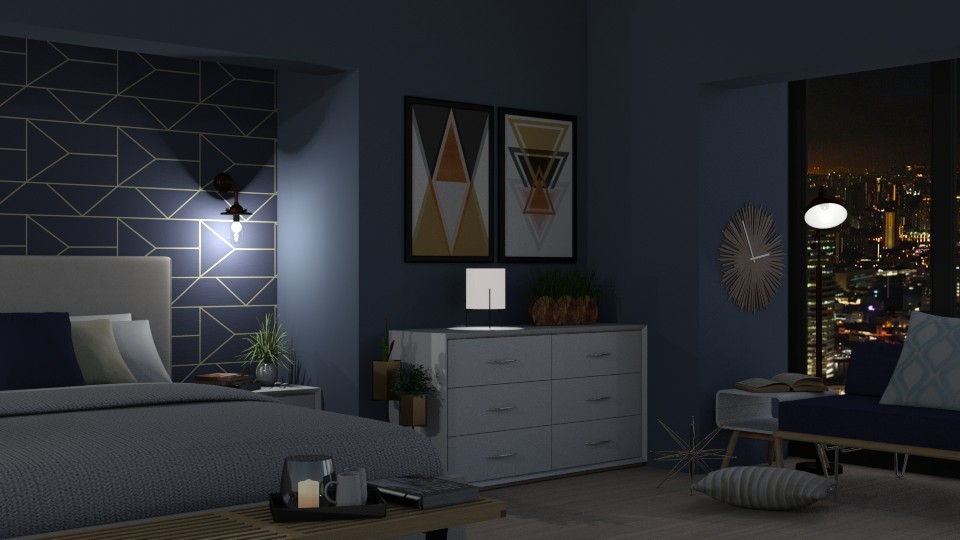 City Bedroom - Bedroom - by juliavalerie