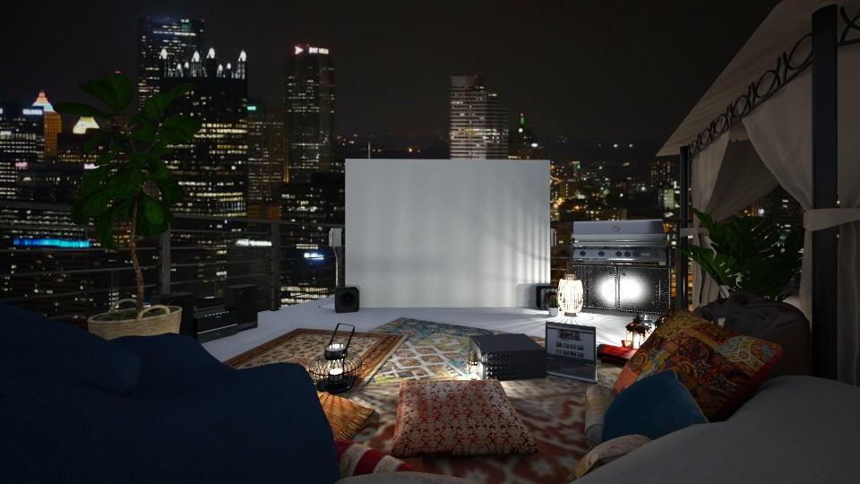 rooftop cinema - by jjannnii
