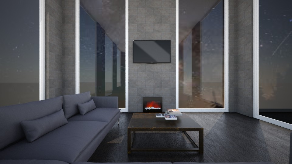 Living Room at Night - Living room - by VibrantSplash