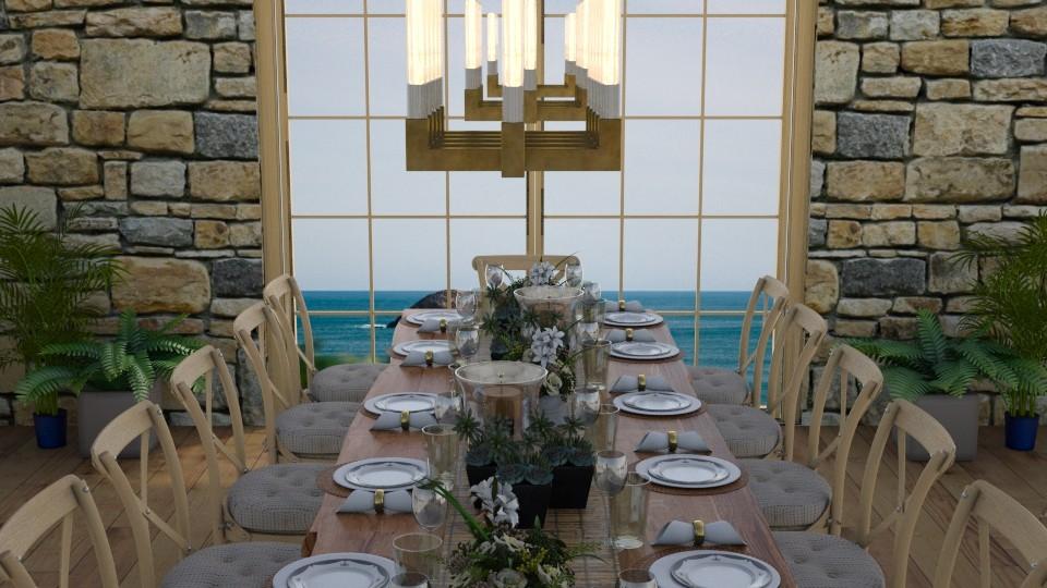 stone dining room  - Dining room - by zrinkaroso