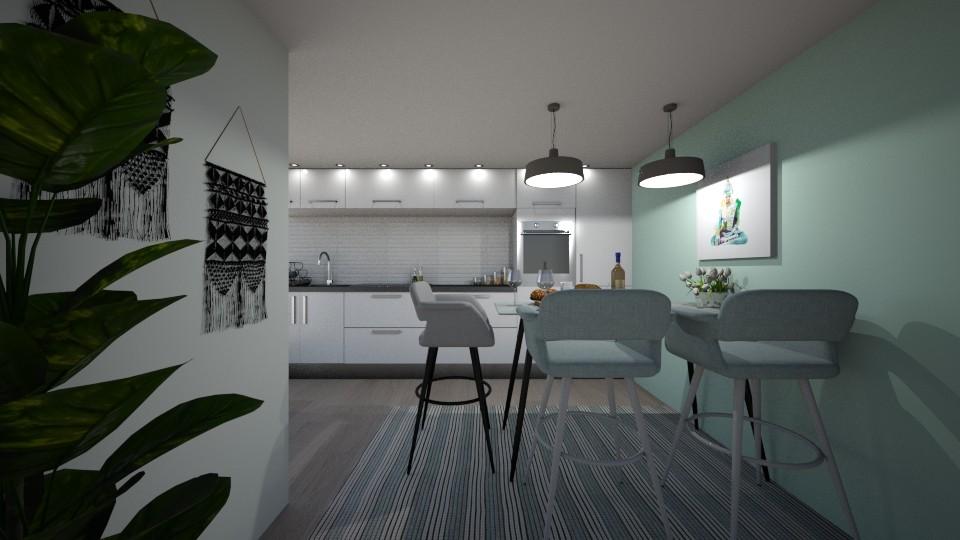 pastel kitchen - by cuneyt oznur