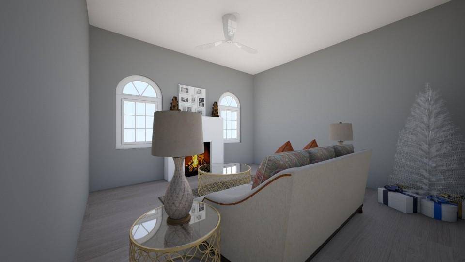 minimalistic christmas - Living room - by tatotot