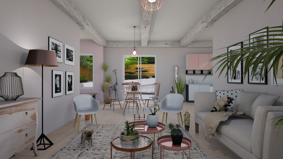 Pink Copper - Minimal - Living room - by LeilaniD04