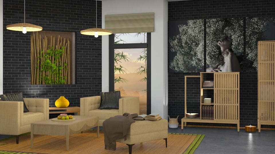 M_ Bamboo - Living room - by milyca8