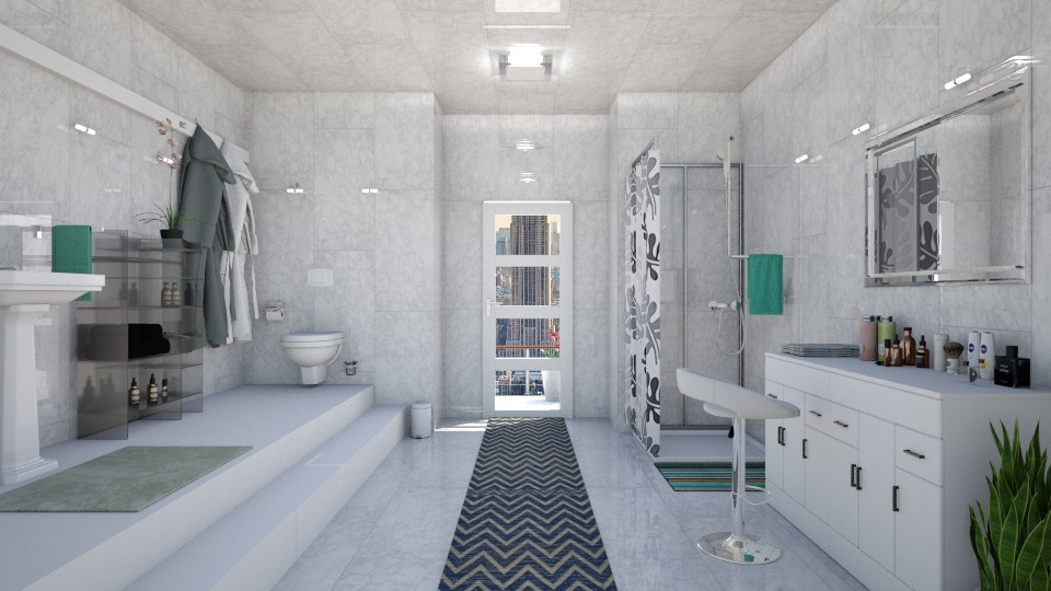 7th floor bathroom - Modern - Bathroom - by ljiljanan