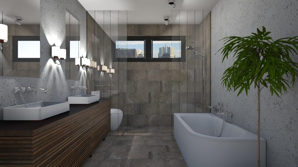Earthy Modern Bathroom - by 3rdfloor