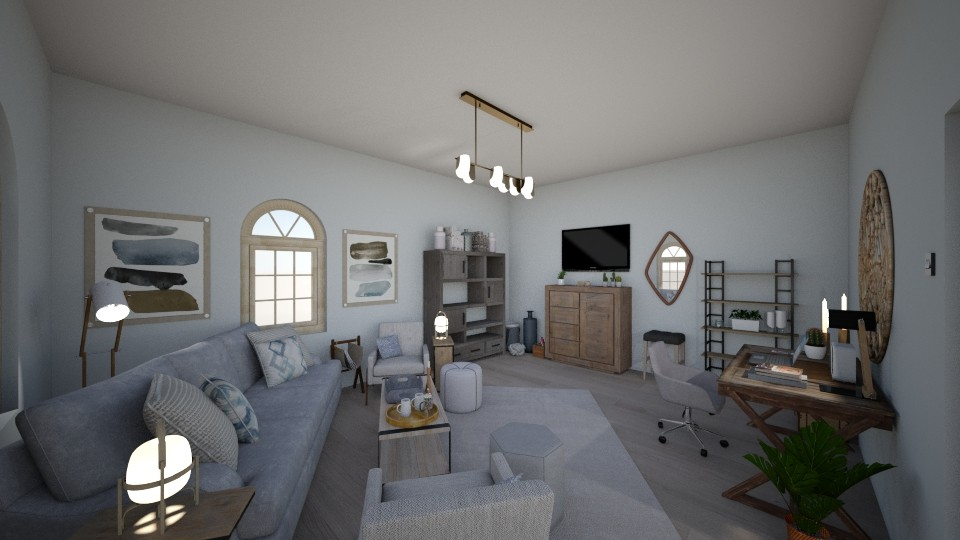 Nordic Living Room - Minimal - Living room - by PeculiarLeah