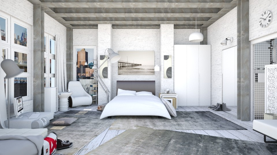 In White Loft_BR - Bedroom - by JayPH