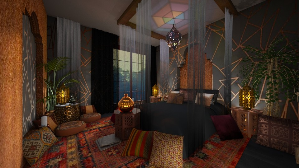 Panel apartment in my style bedroom - by ZsuzsannaCs