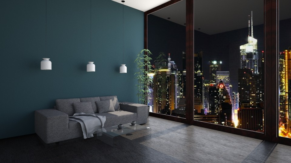new york night - Living room - by BWiktoriaa