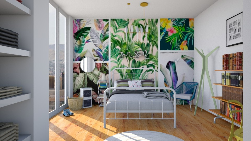 Bit tropical - Minimal - Bedroom - by aniachoynowska