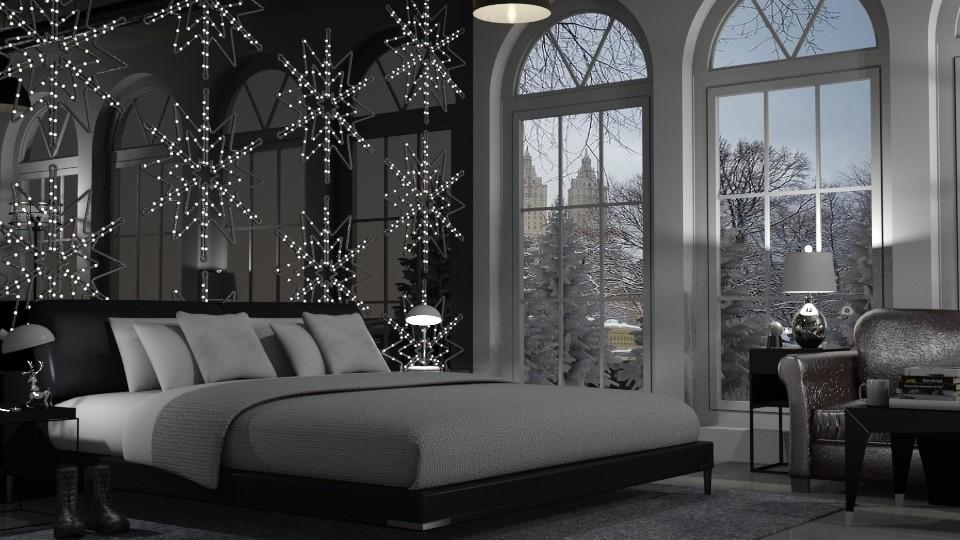 Winter Wonderland Bedroom - Bedroom - by teighmacintosh
