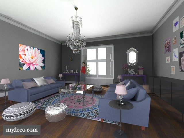 Bohemian Rhapsody - Glamour - Living room - by overtherainbow
