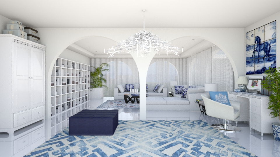 White Living - Masculine - Living room - by Joao M Palla