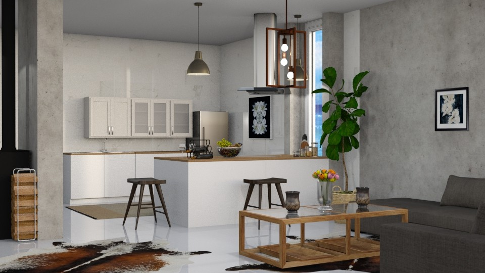 kitchen with living - by sirtsu